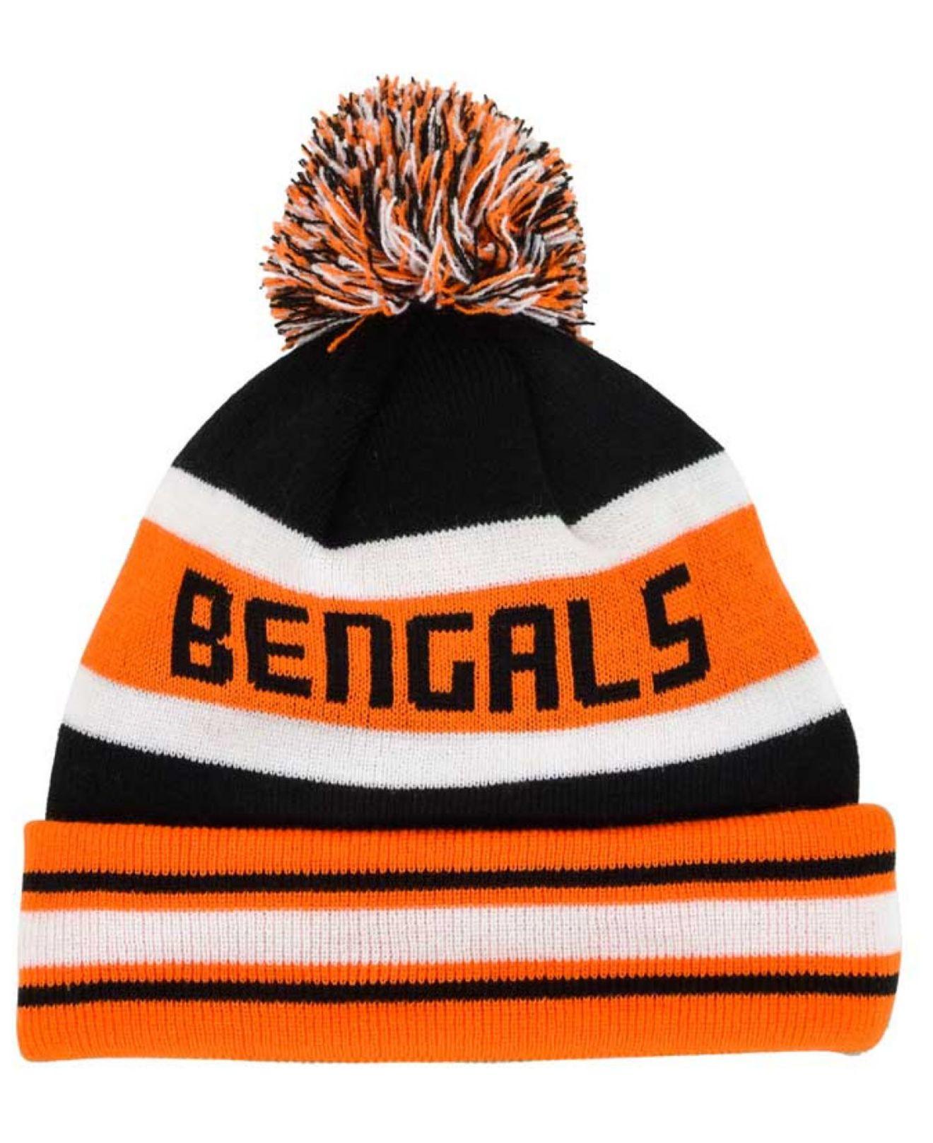 Lyst - KTZ Cincinnati Bengals Team Color Black Jake Knit Hat in ... 4912378c7