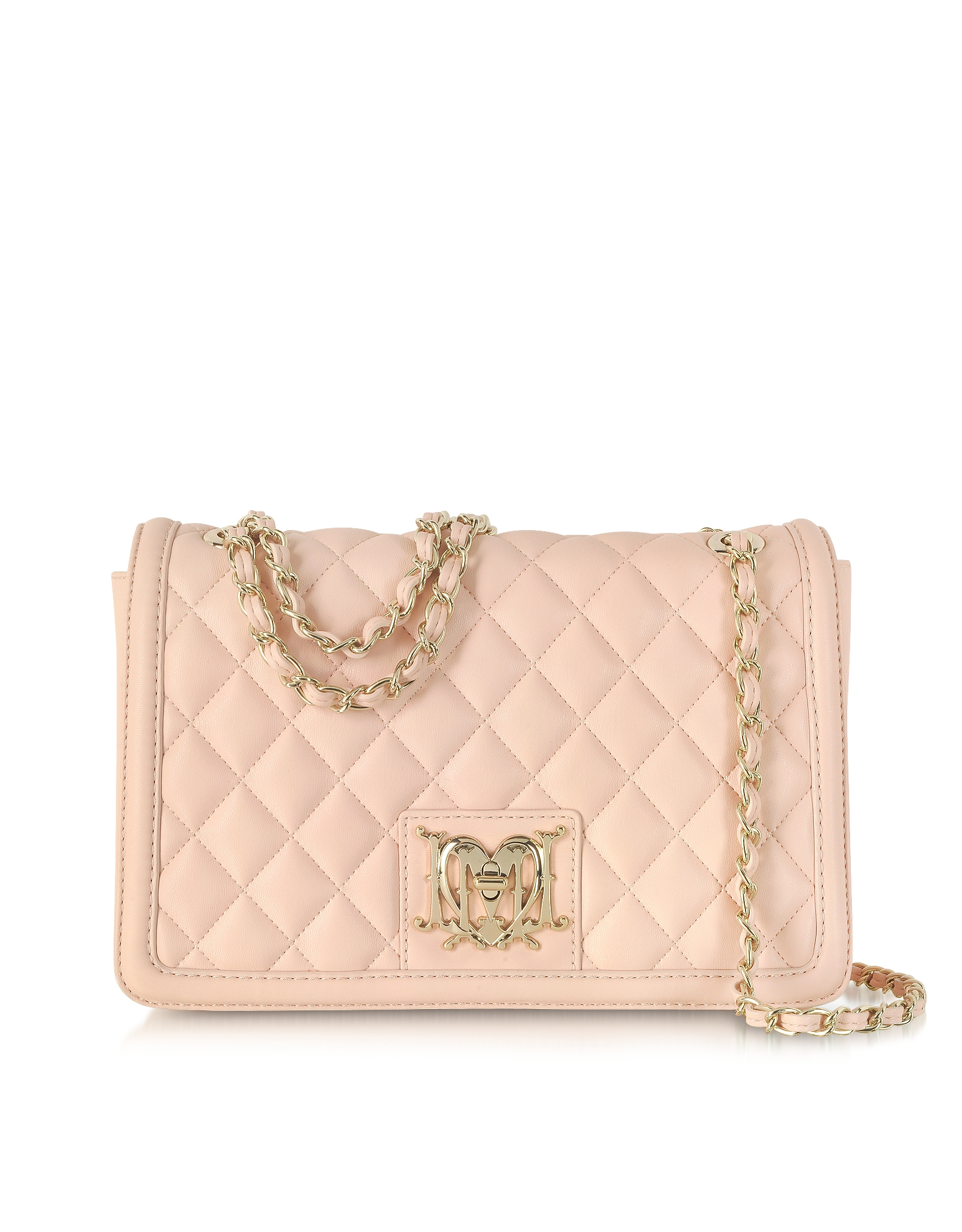 Lyst Moschino Powder Pink Quilted Eco Leather Shoulder