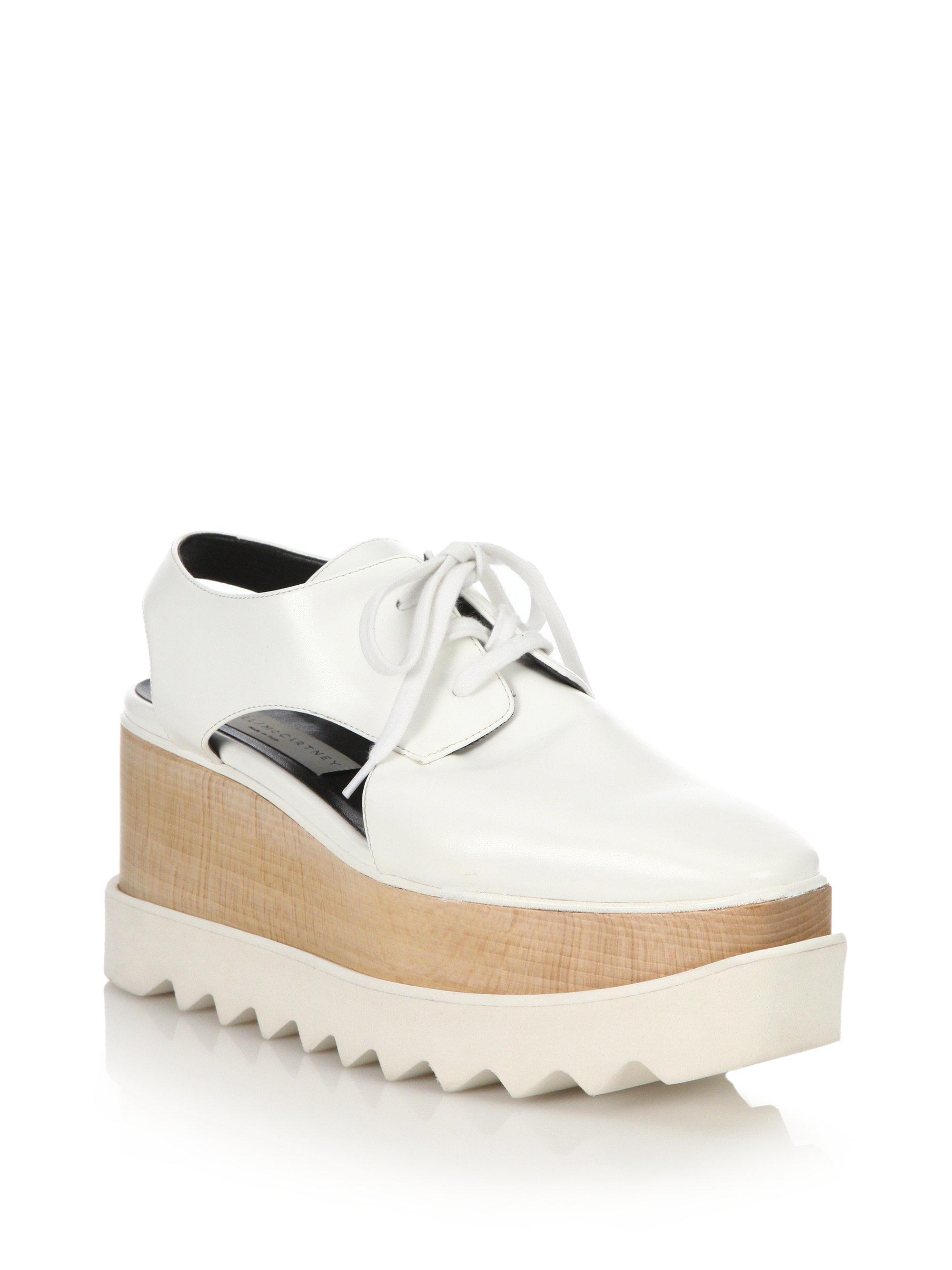 Stella McCartney Elyse Cut-Out Platform Shoes 8qn80Iwtz