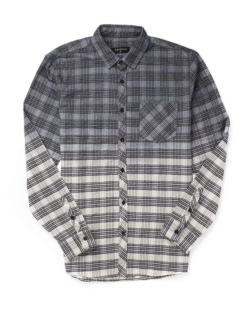Lyst antioch grey flannel shirt in gray for men for White flannel shirt mens