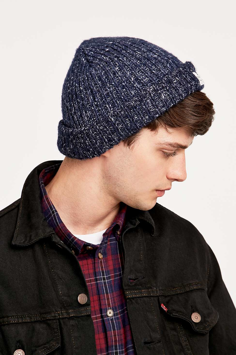 f9e5ca51a24 Penfield Conway Navy Marl Beanie in Blue for Men - Lyst