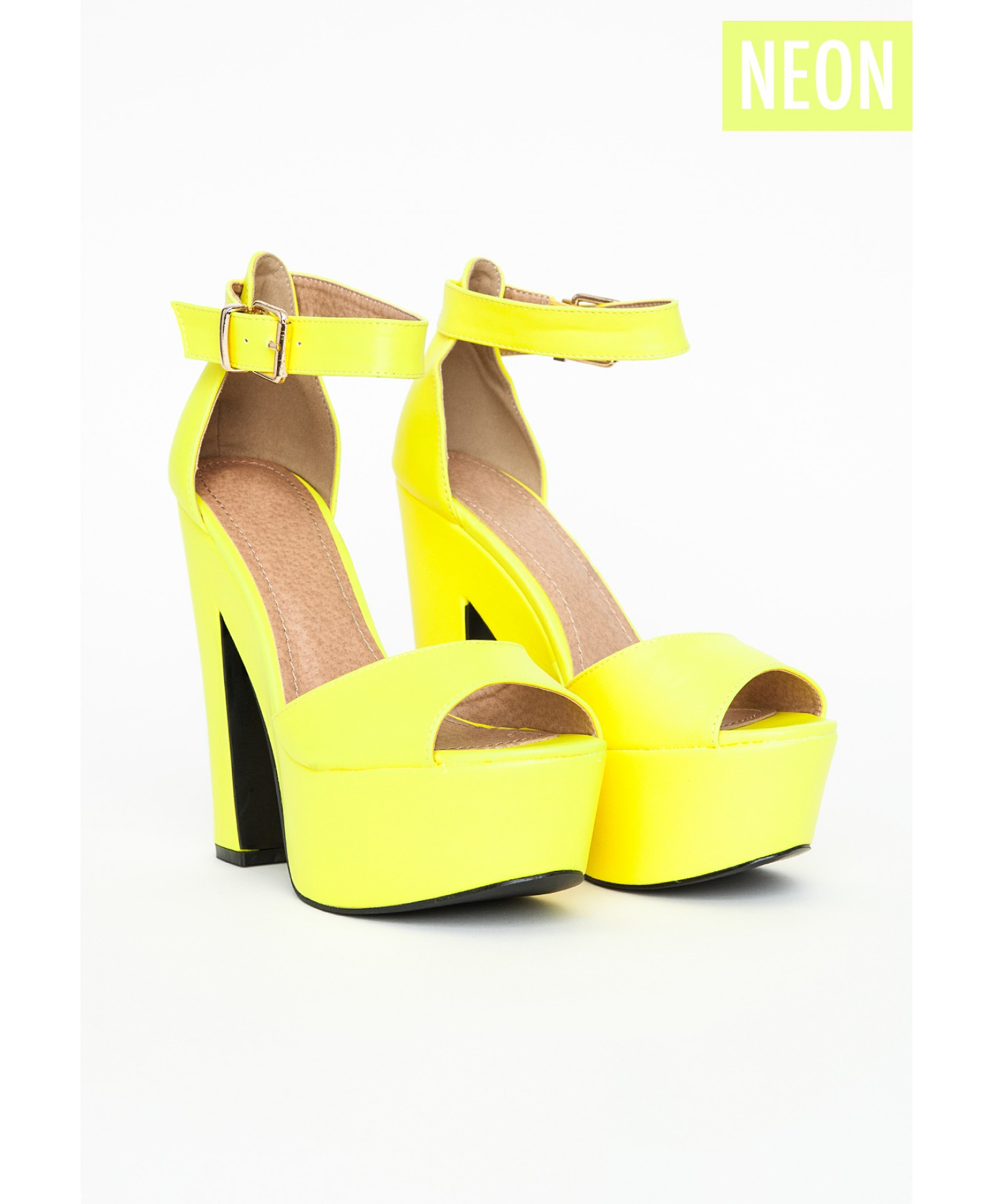 Yellow Block Heels | Tsaa Heel