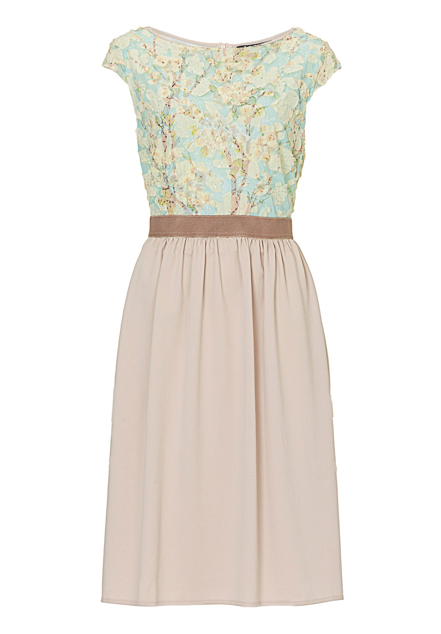 Betty barclay floral cut out dress in natural lyst for Betty barclay