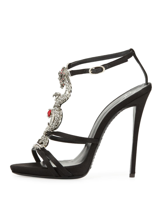 115369beb07474 Lyst - Giuseppe Zanotti Dragon Strappy High-heel Sandal in Metallic