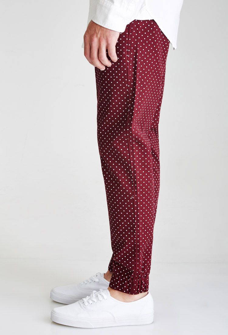 polka dot pants forever 21 polka dot in purple for lyst 30737