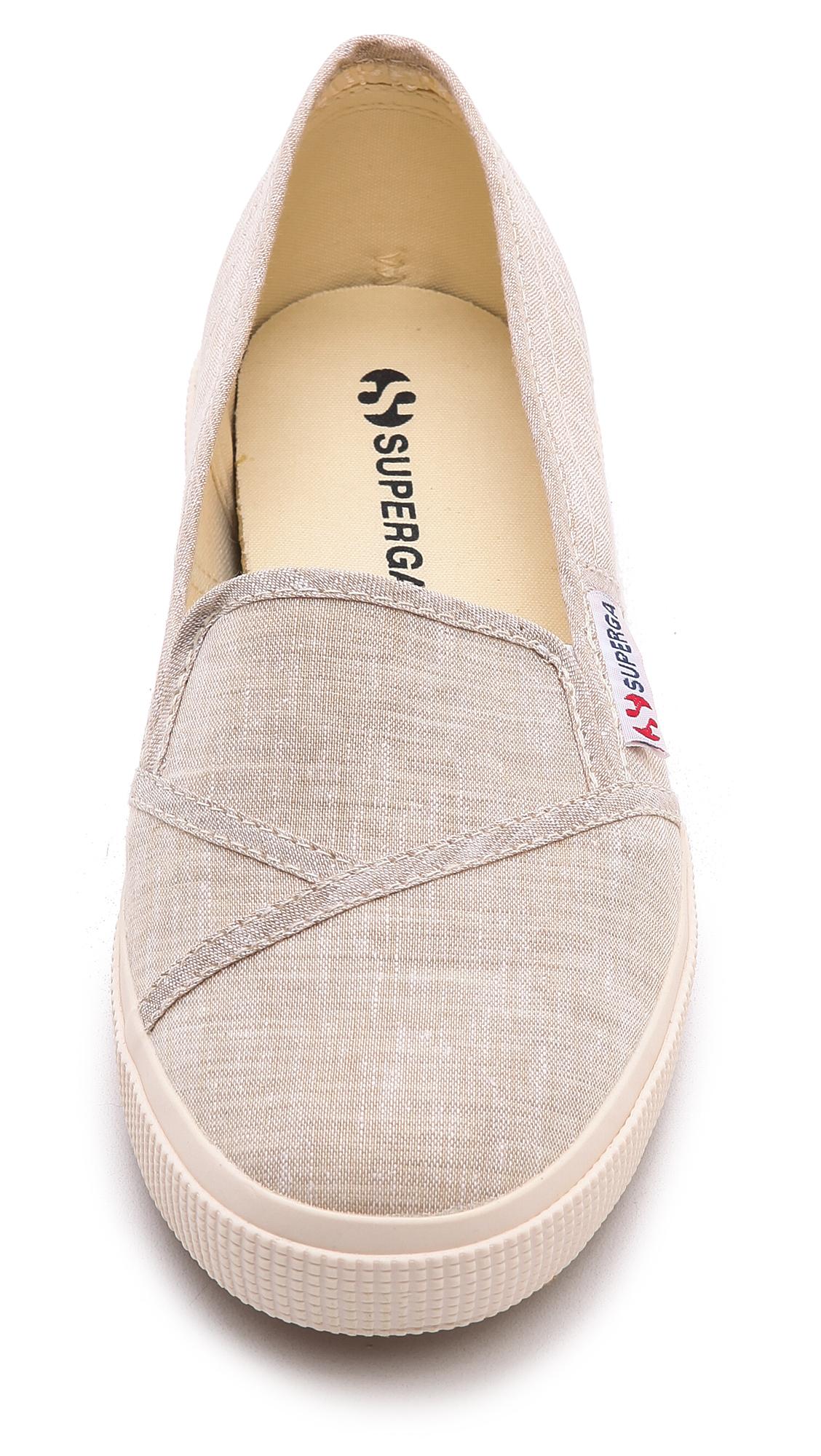 Superga: Superga Cotu Slip On Sneakers Sand In Natural