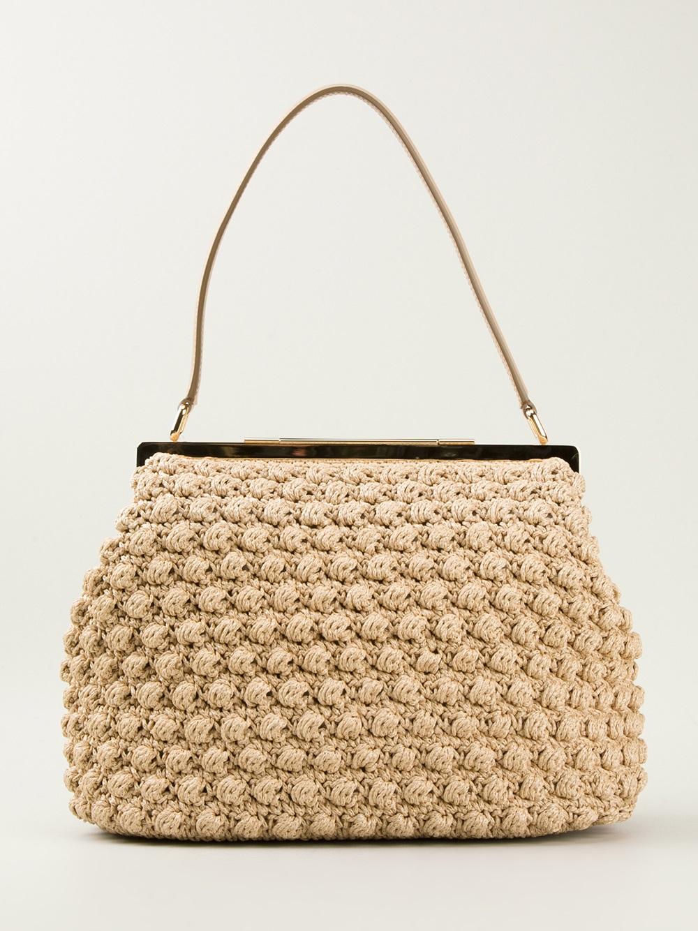 Lyst - Dolce   Gabbana Medium Crochet Bag in Natural d91a467467