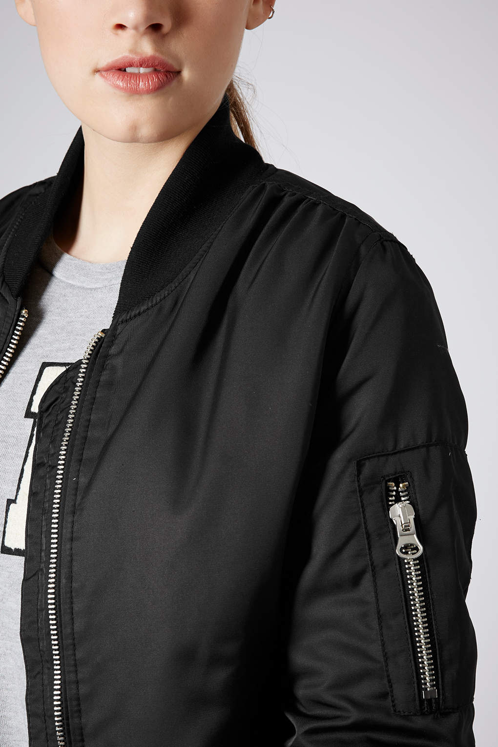 Topshop Ultimate Ma1 Bomber Jacket In Black Lyst