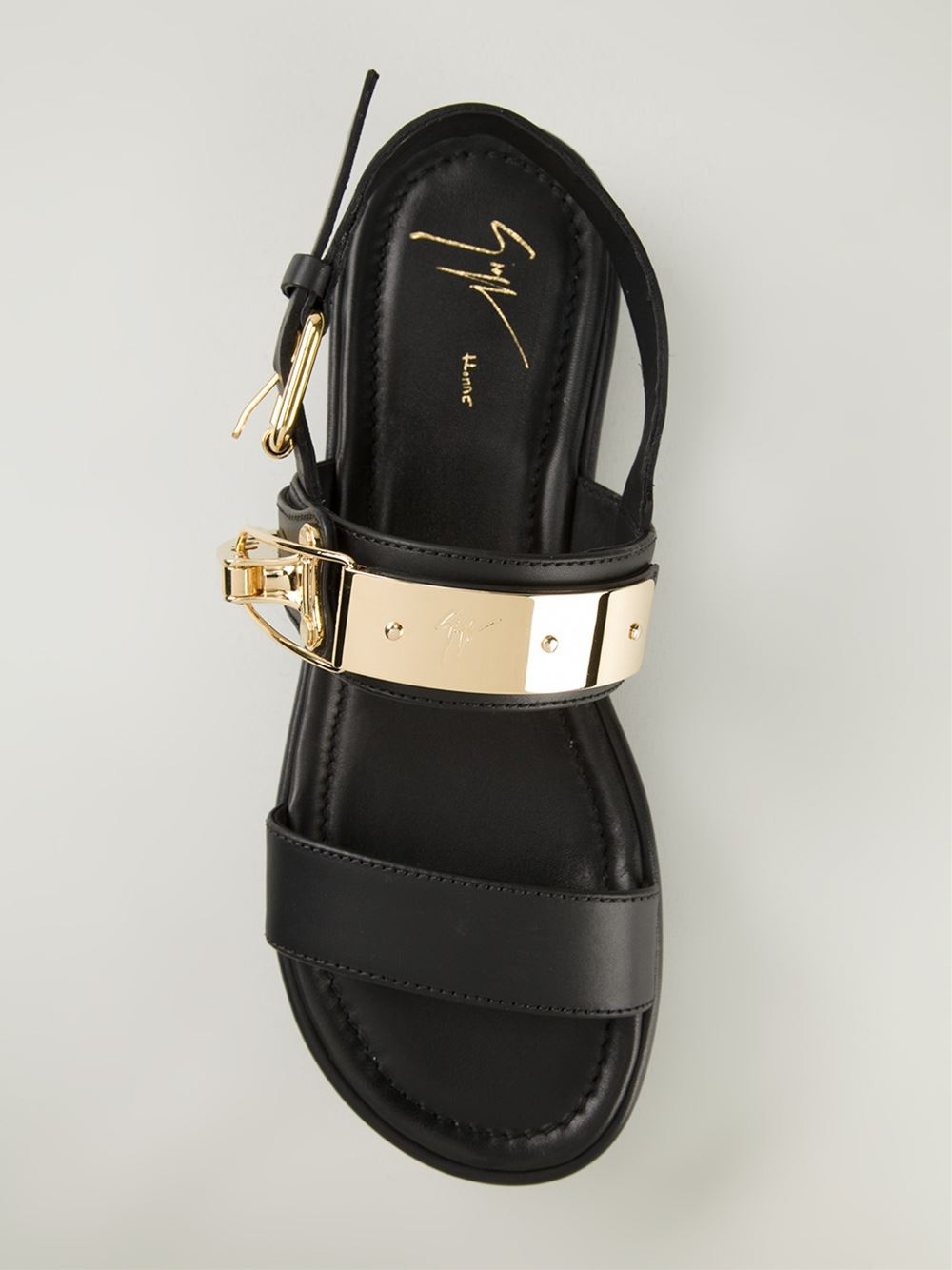 5b50958b0c05 Lyst - Giuseppe Zanotti Clasp Fastening Sandals in Black for Men