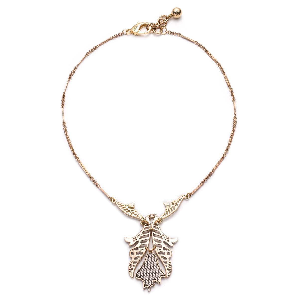 lulu wisteria necklace in metallic lyst