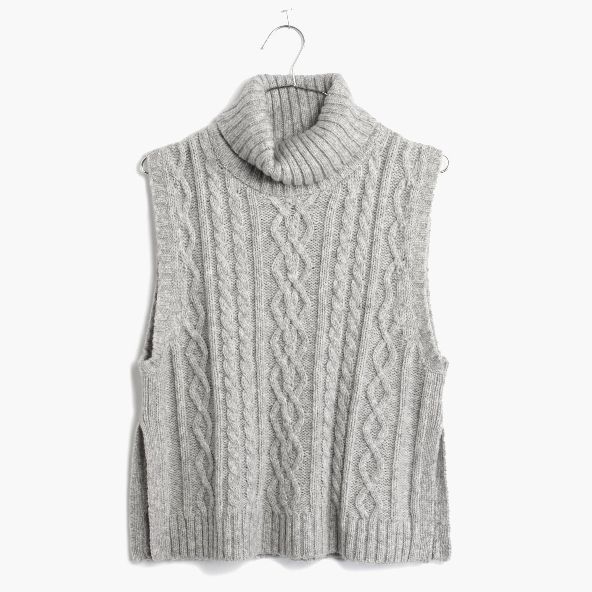 Madewell Turtleneck Sweater-Vest in Gray | Lyst