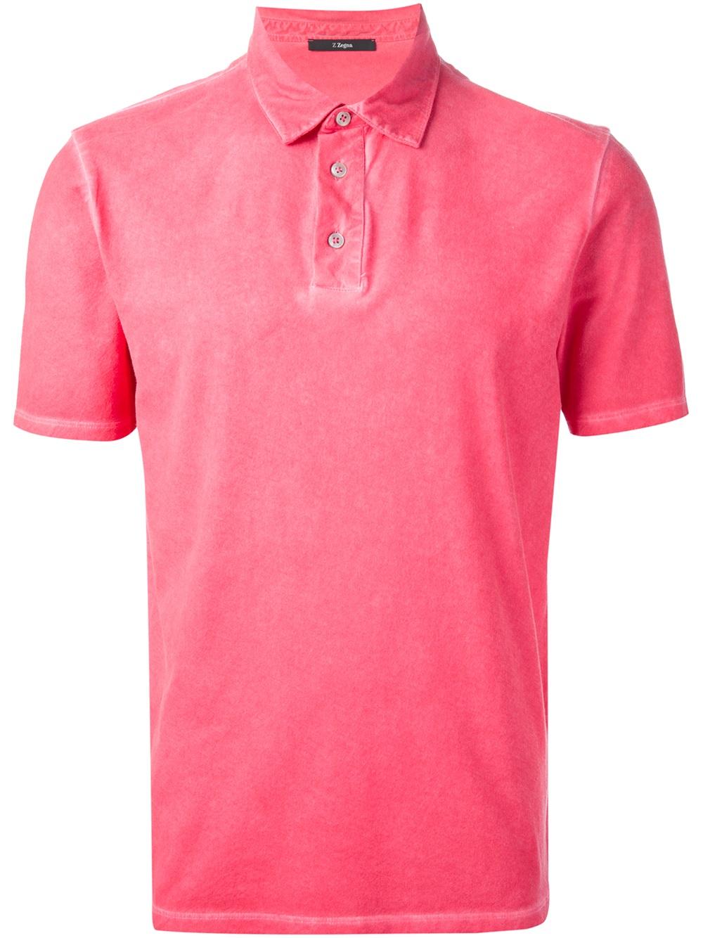ermenegildo zegna classic polo shirt in pink for men lyst. Black Bedroom Furniture Sets. Home Design Ideas