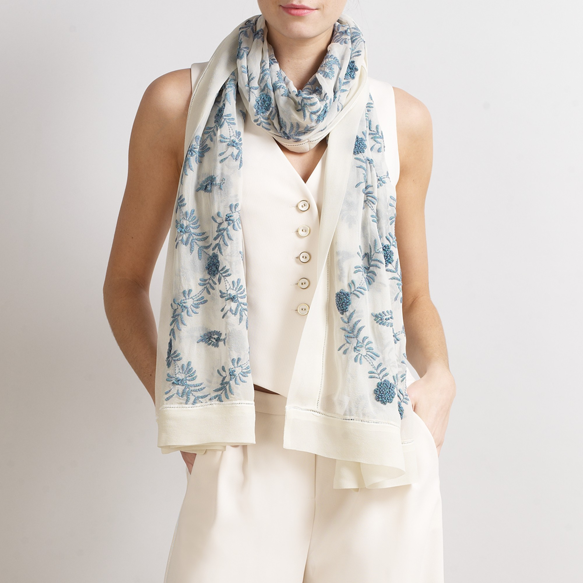 view faro camo in ferrari franco tattoo lyst accessories blue fullscreen scarf