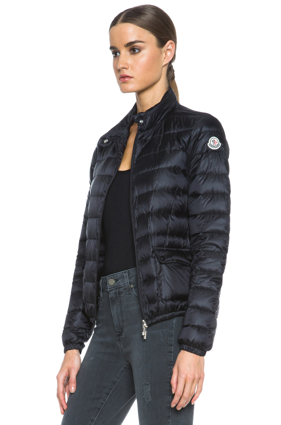moncler lans jacket in black lyst. Black Bedroom Furniture Sets. Home Design Ideas