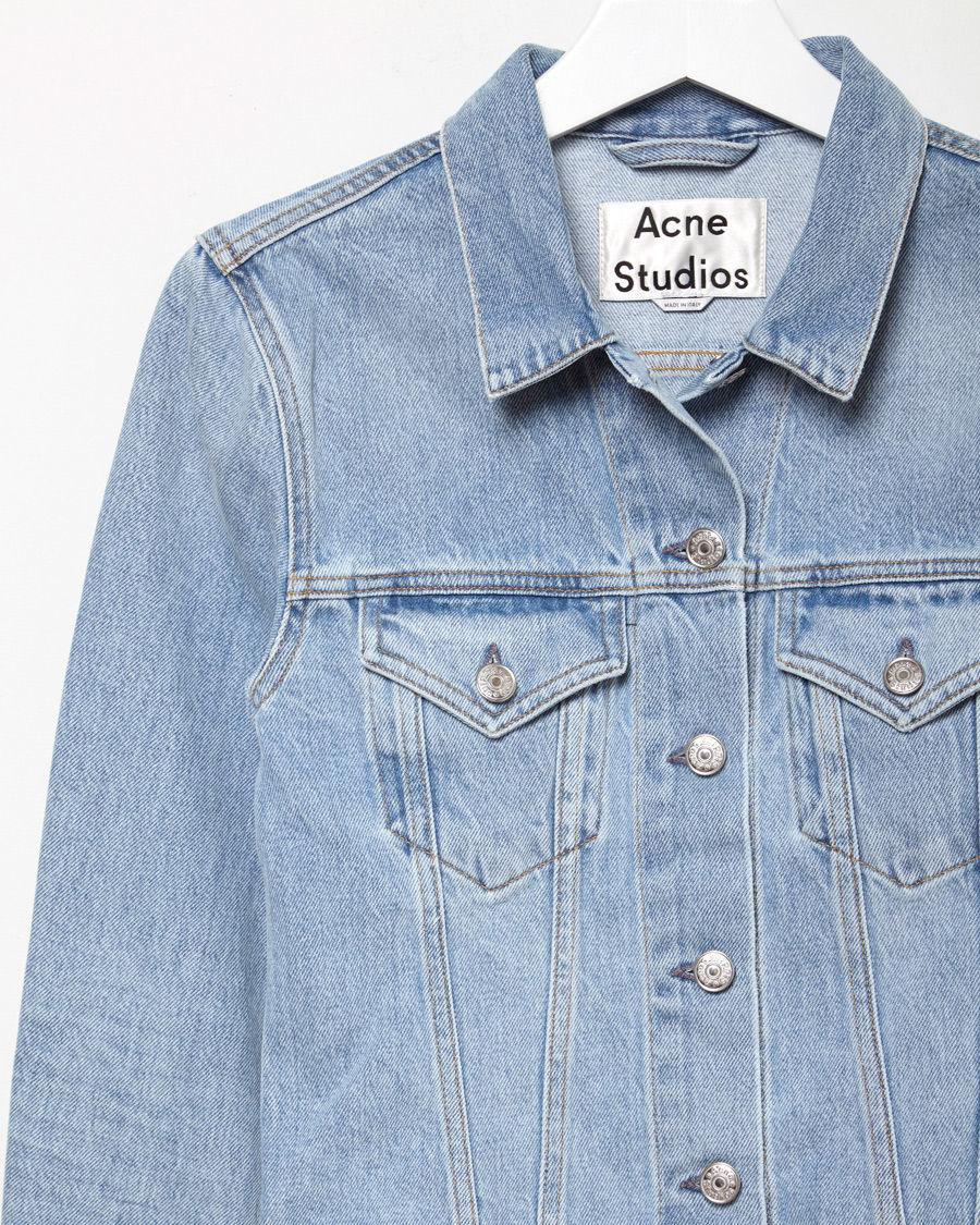 809e1823152 Lyst - Acne Studios Top Light Vintage Denim Jacket in Blue