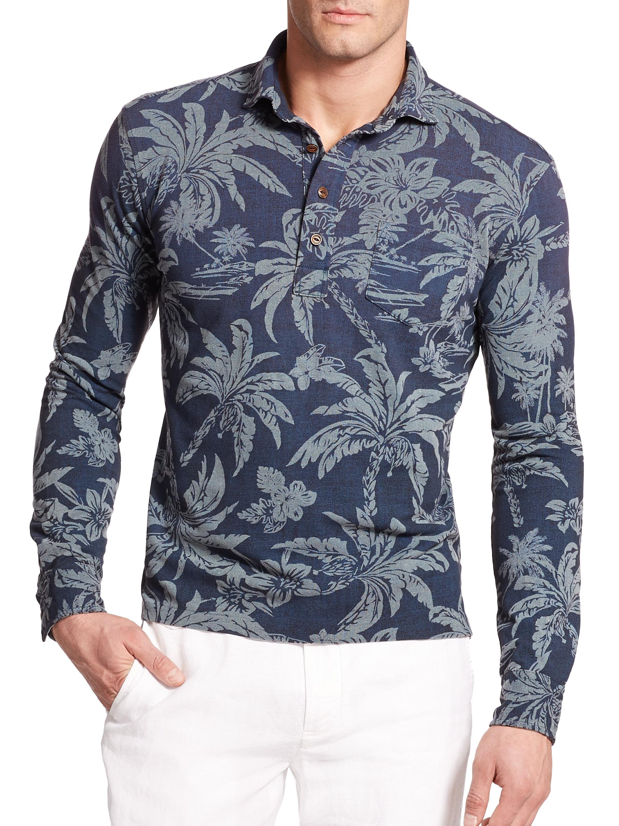 1ff722122abc ... shirts e94da 3f7bb where can i buy lyst polo ralph lauren hawaiian  print mesh estate long sleeve polo c72d7 ...