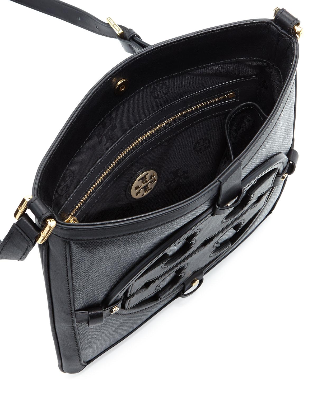 ce5228e629c Lyst - Tory Burch Holly Bookbag Crossbody Black in Black