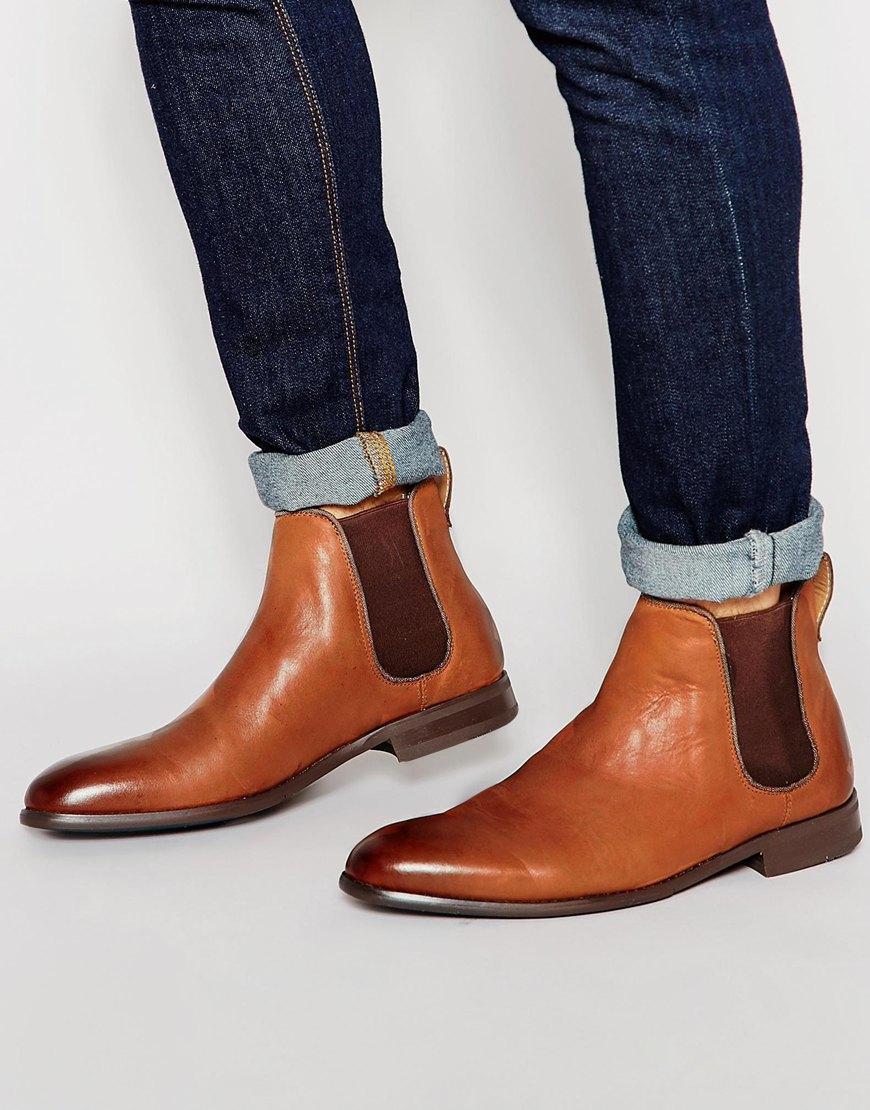 Aldo Merin Leather Chelsea Boots - Tan in Brown for Men | Lyst