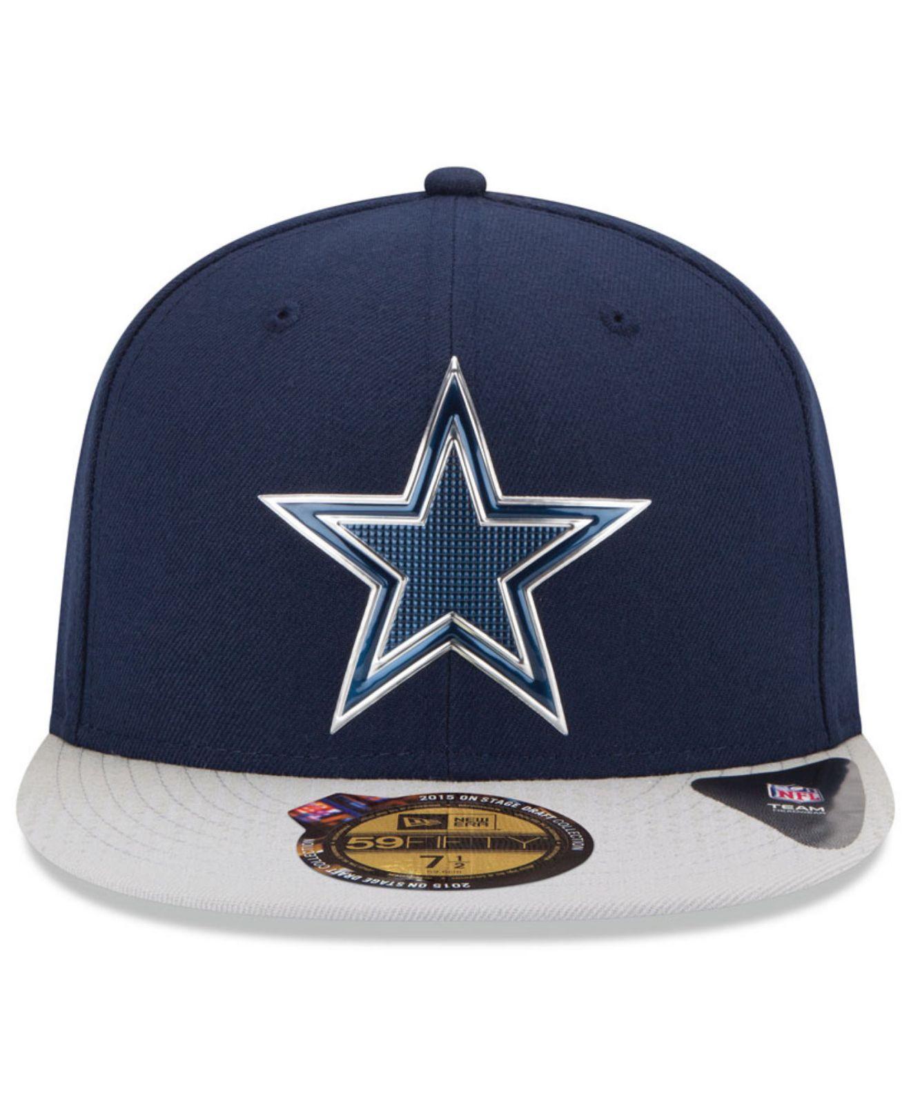 Lyst - Ktz Dallas Cowboys 2015 Nfl Draft 59fifty Cap in Blue for Men 615a2696b1c