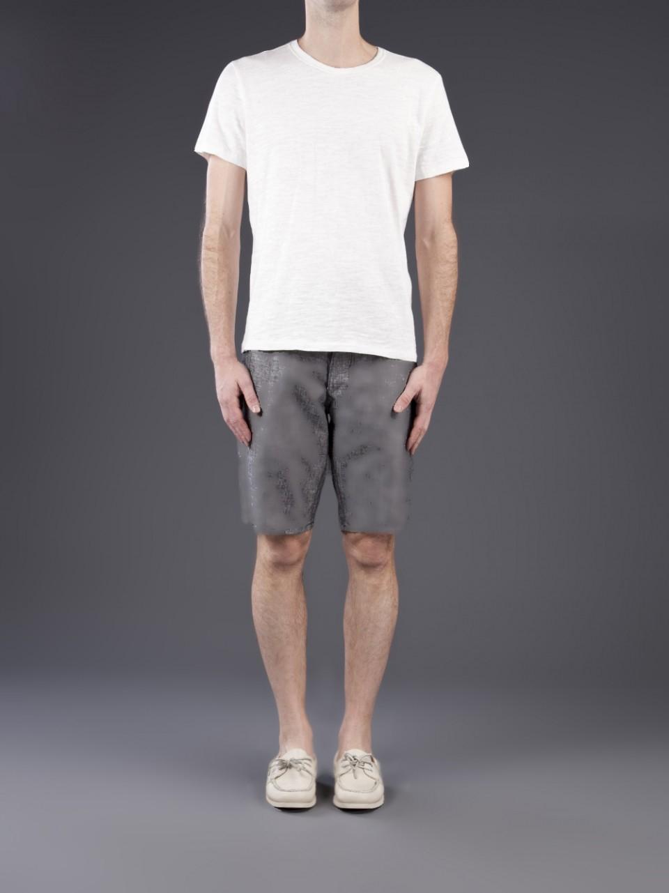 Lyst Rag Bone Basic Tee In White For Men