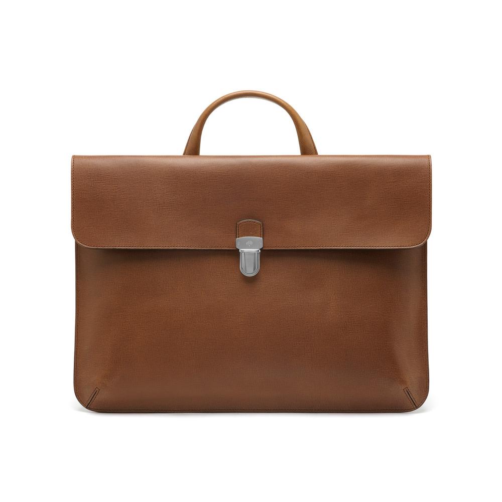 Lyst - Mulberry Farringdon Pushlock in Brown for Men 45d2e217110c5