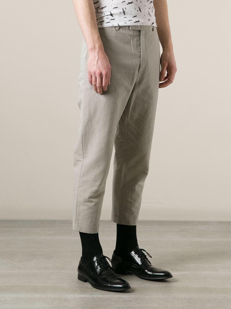 Lyst Kris Van Assche Cropped Trousers Men Cotton