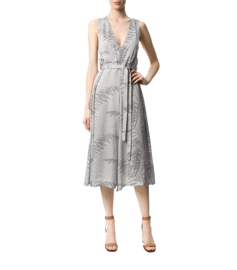 21e20566e062 Whistles Honu Demi Drape Jumpsuit in Gray - Lyst