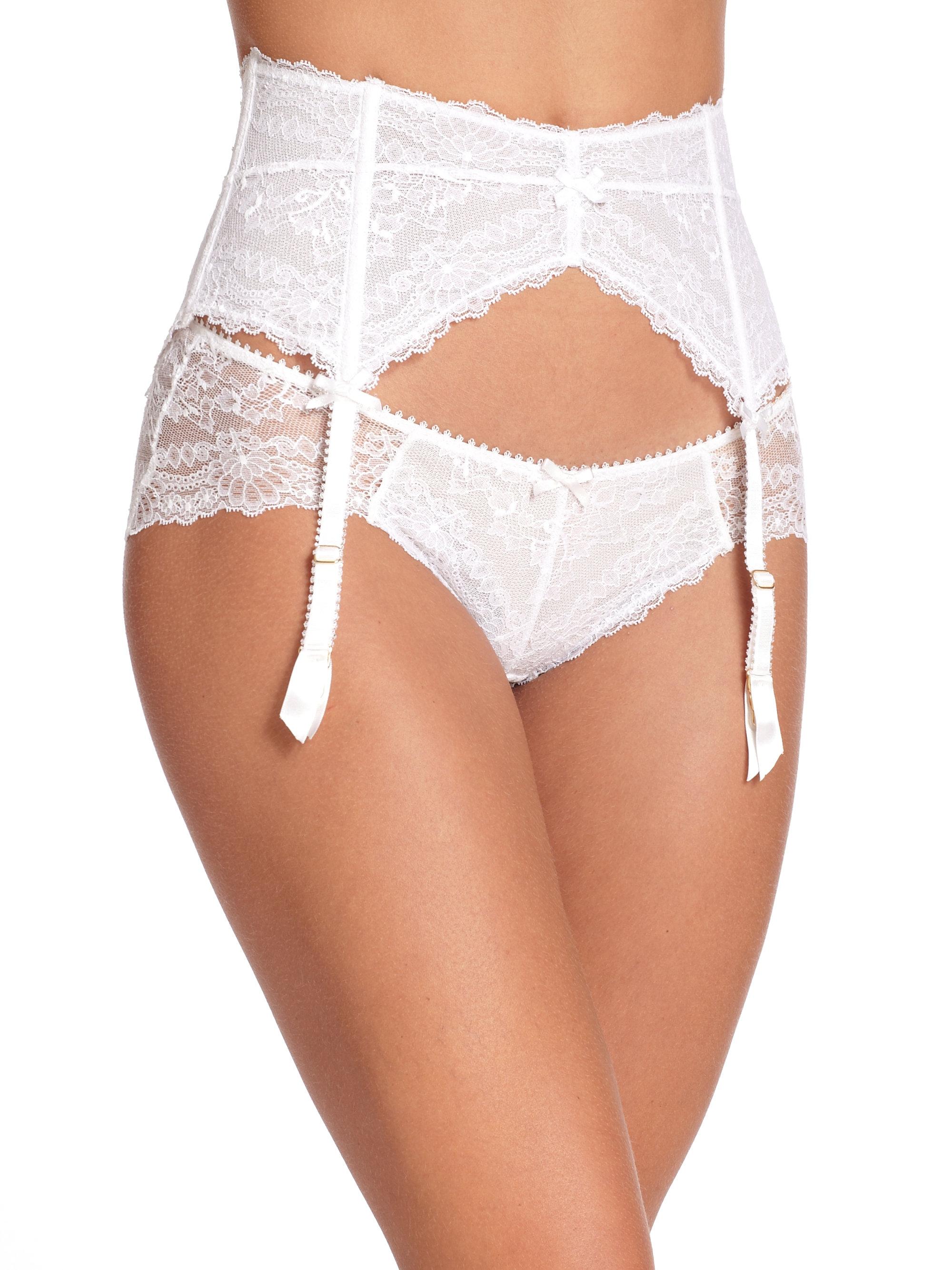2cd276101 Myla Nicole Suspender Garter Belt in White - Lyst