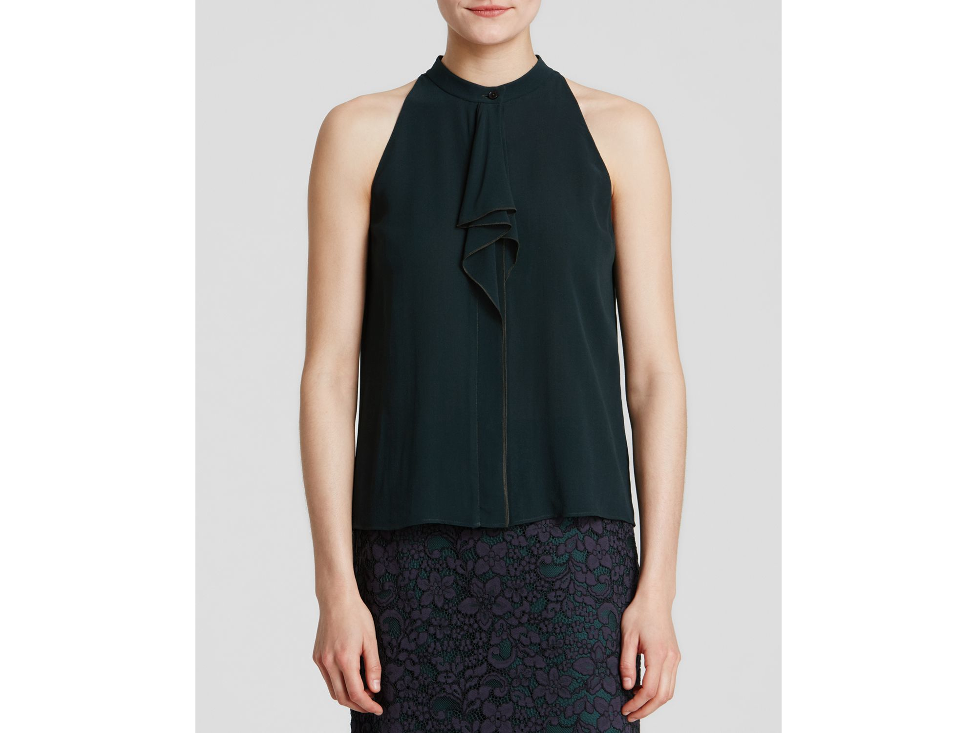 Factory Price Explore Online Tory Burch Silk Sleeveless Top ELKUEB