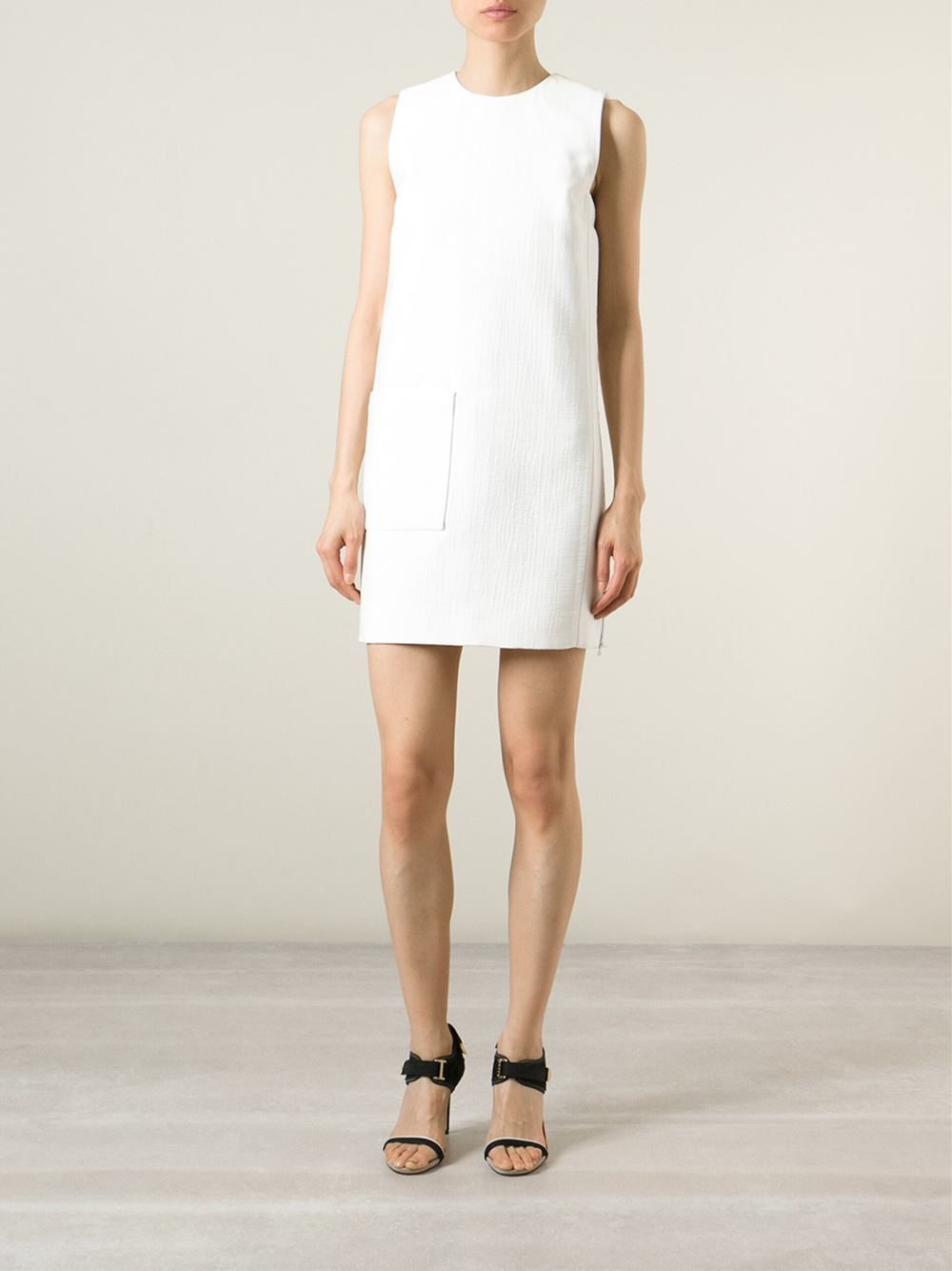 flamingo embroidered shift dress - White Victoria Beckham C7NcRZ