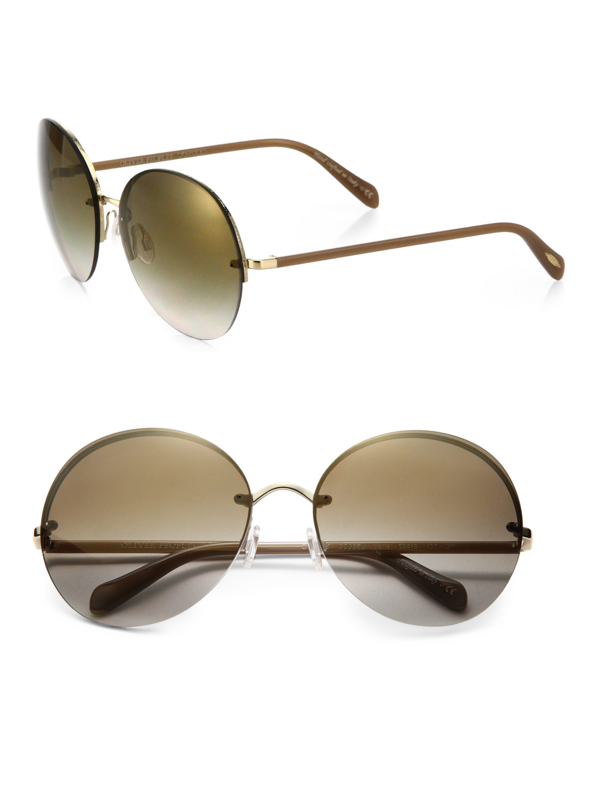 Oliver peoples Jorie 62mm Rimless Oversized Round ...