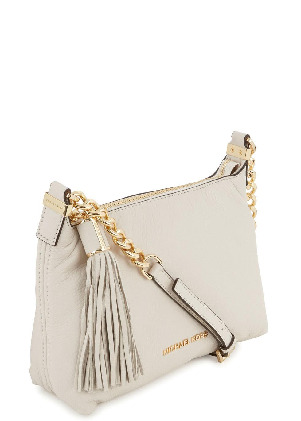 0bcdfc879141c Michael Kors Weston Cream Grained Leather Crossbody Bag in Natural ...