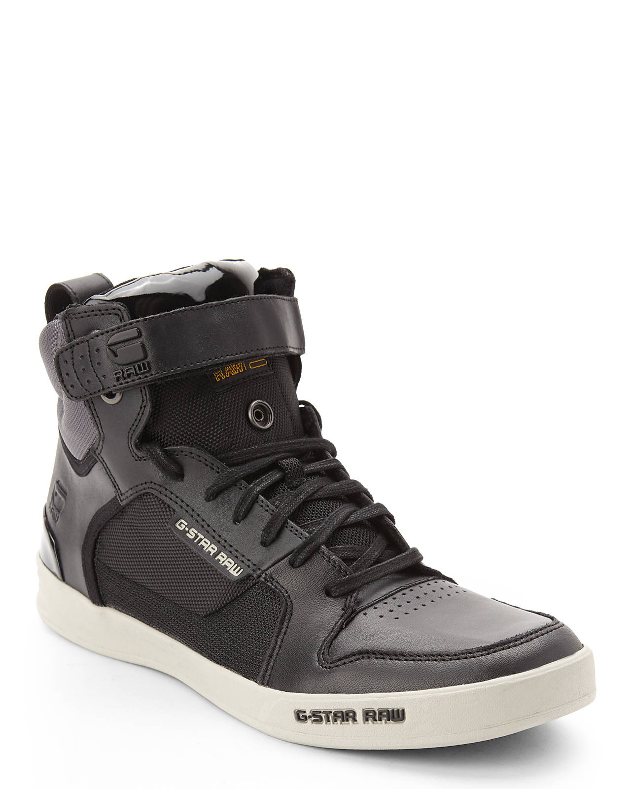 lyst g star raw black grey yard bullion high top sneakers in black for men. Black Bedroom Furniture Sets. Home Design Ideas