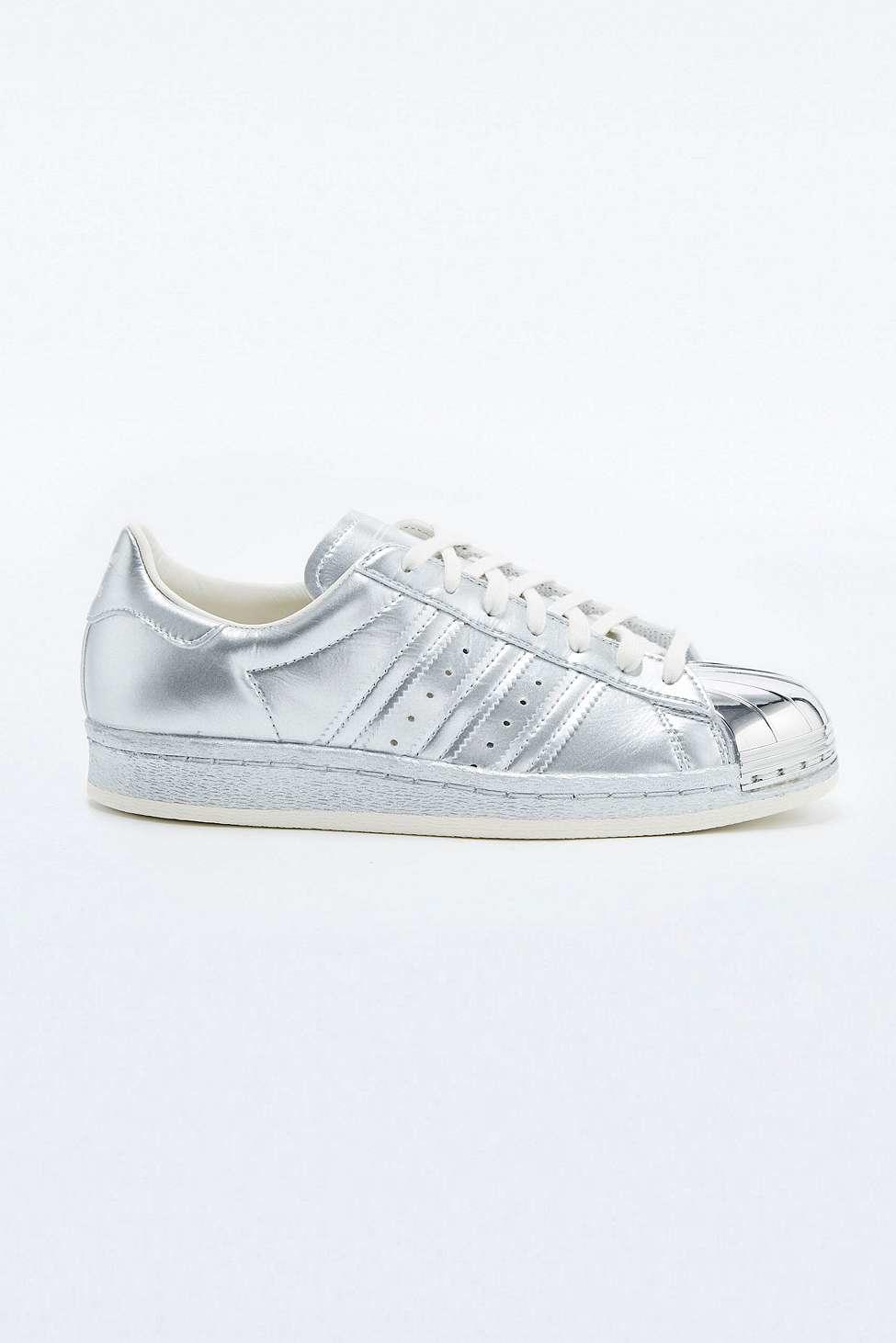 Adidas superstar degli anni '80 gli originali argento metallico formatori in metallo