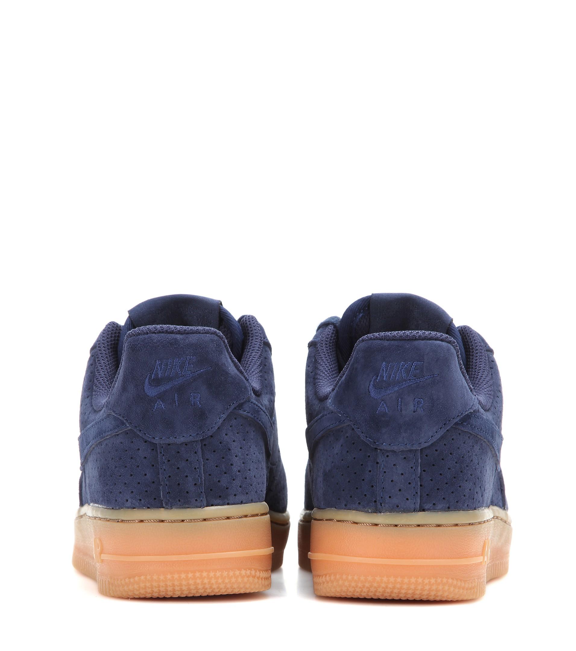 lyst nike air force 1 scamosciato scarpe in blu