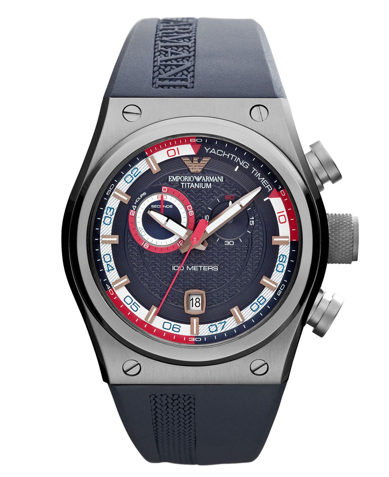 f8b63b9a6dbe Top Five Emporio Armani Watch Blue Rubber Strap / Fullservicecircus