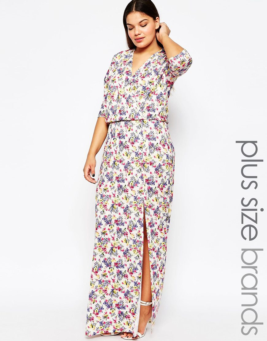 d964b170b86 Plus Size Wrap Maxi Dress – Fashion dresses