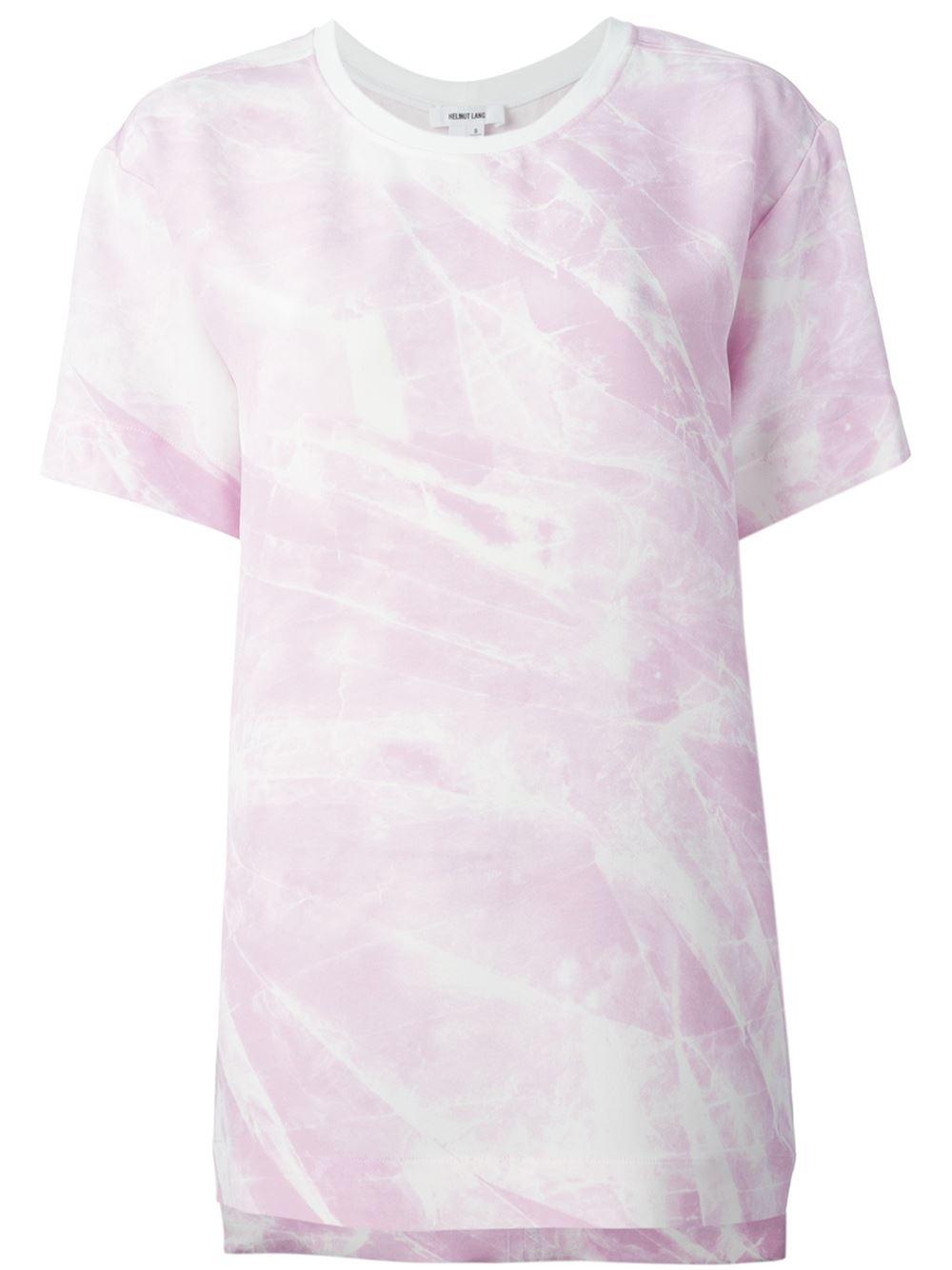 helmut lang oversize t shirt in pink pink purple lyst. Black Bedroom Furniture Sets. Home Design Ideas