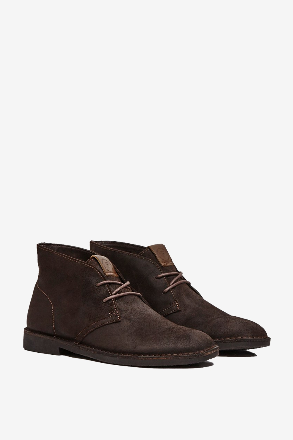 connection suede desert boots in brown for