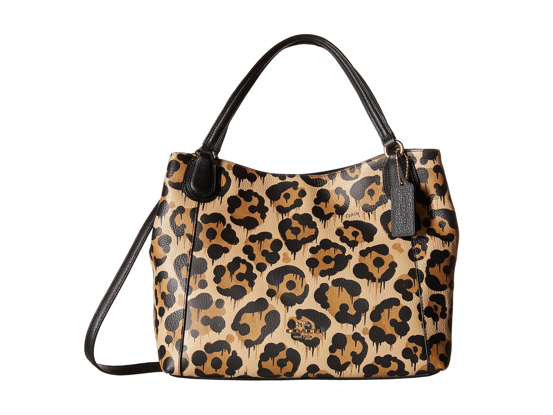 ... Coach Leopard Ocelot Print Edie 28 in Brown Lyst ... 28 In Wild Beast  Print Leather ... e5c179704f39c