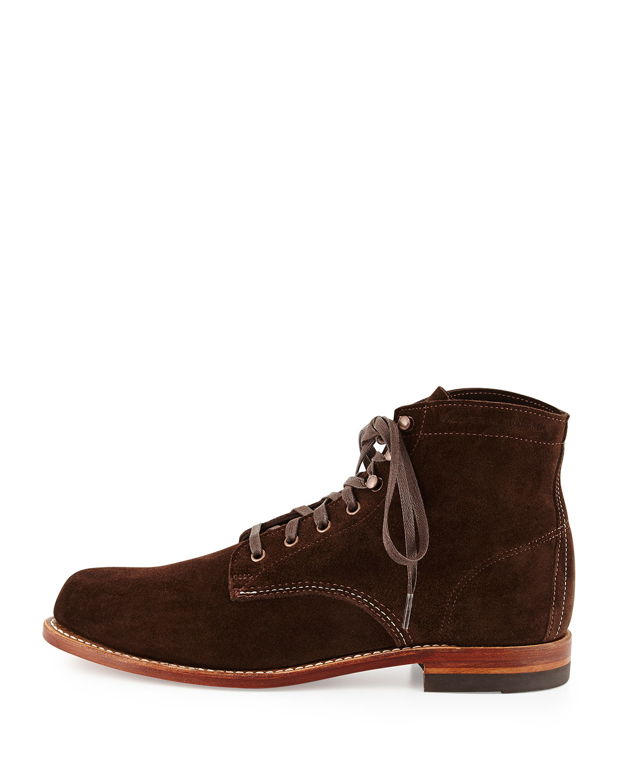 wolverine 1000 mile suede boot in brown for lyst