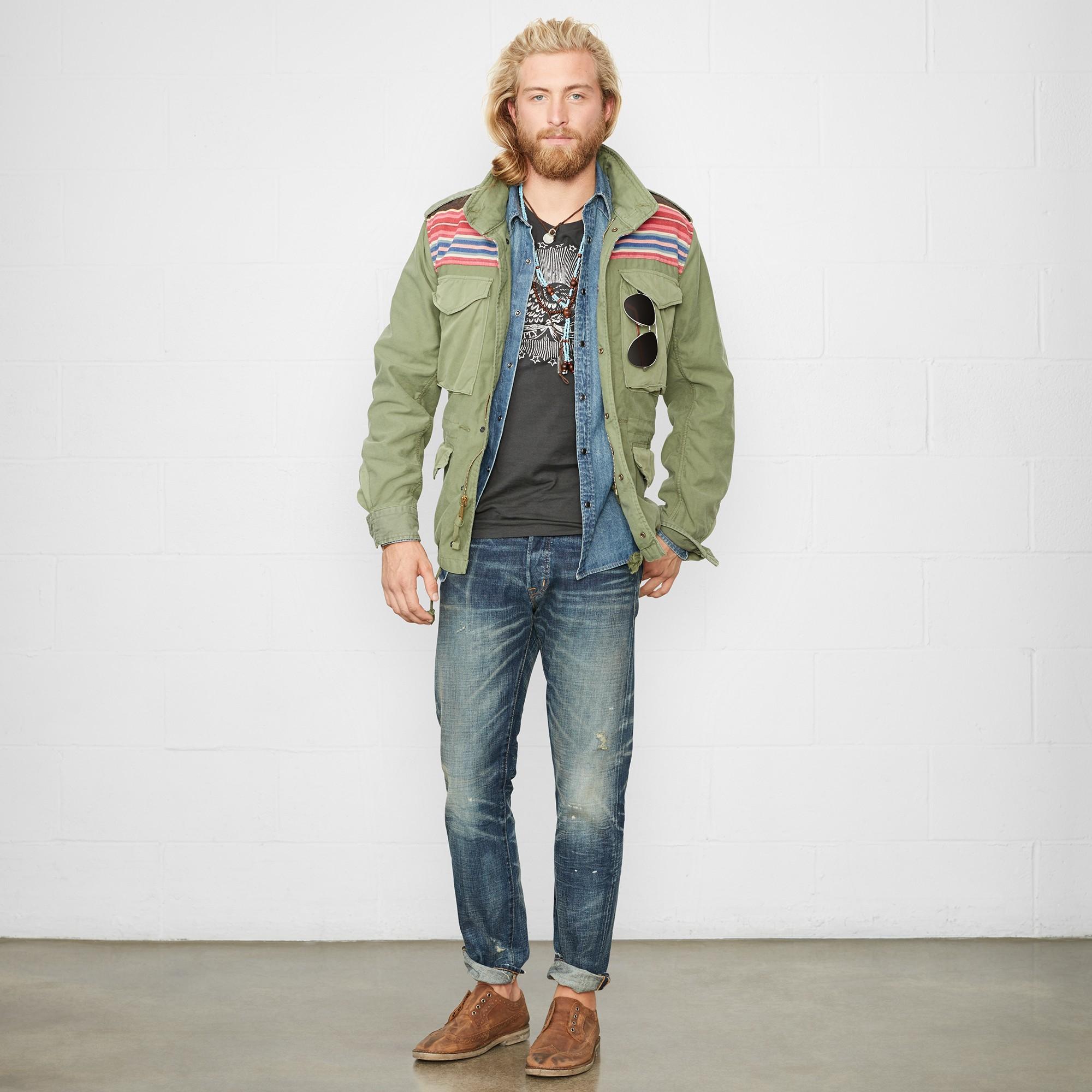 ba8efdee9 Ralph Lauren Denim   Supply Cotton Army Field Jacket in Green for ...