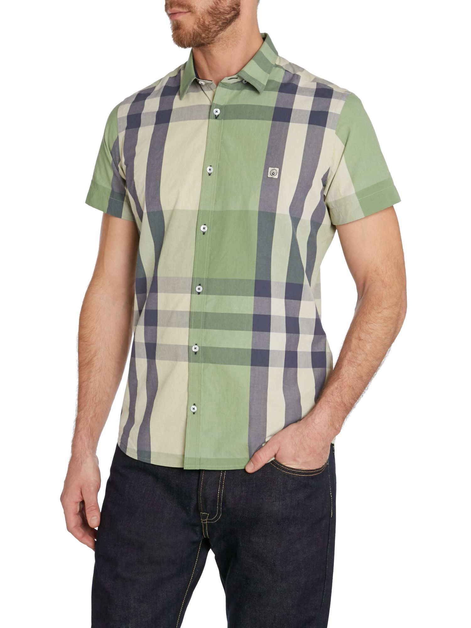 Lyst duck and cover stripe classic fit short sleeve for Preppy button down shirts