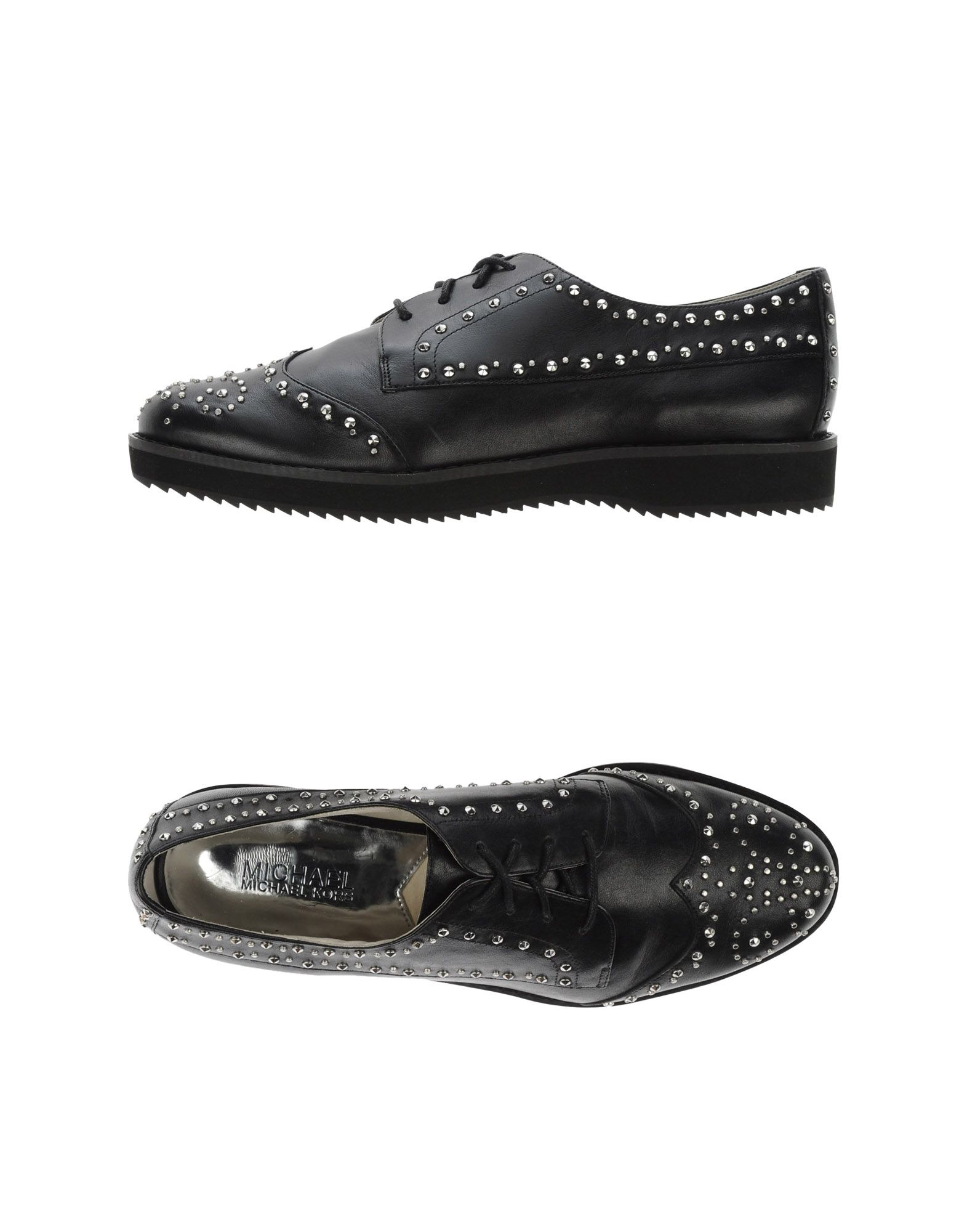 michael michael kors lace up shoes in black lyst