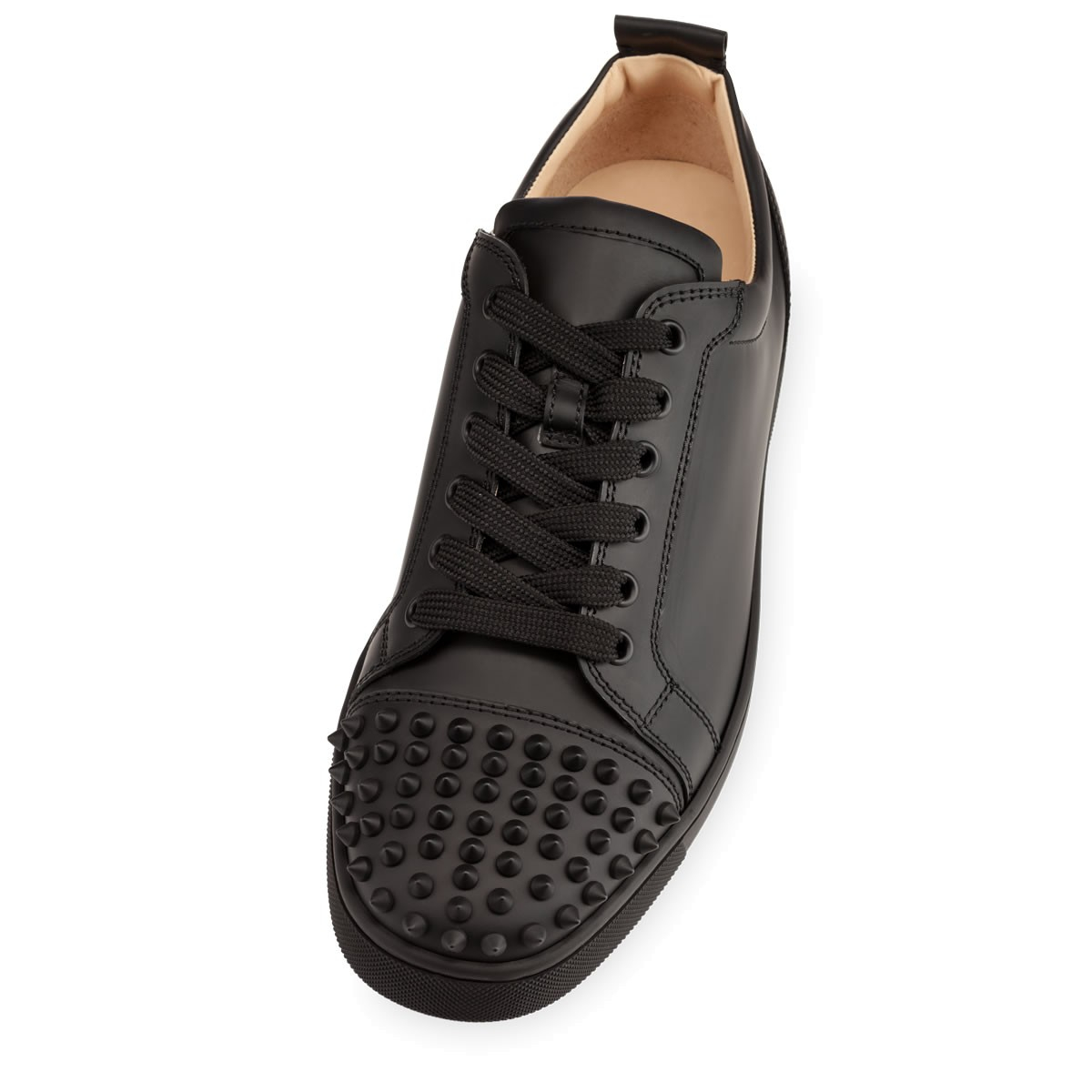 Christian louboutin Louis Junior Spikes Mens Flat in Black ...