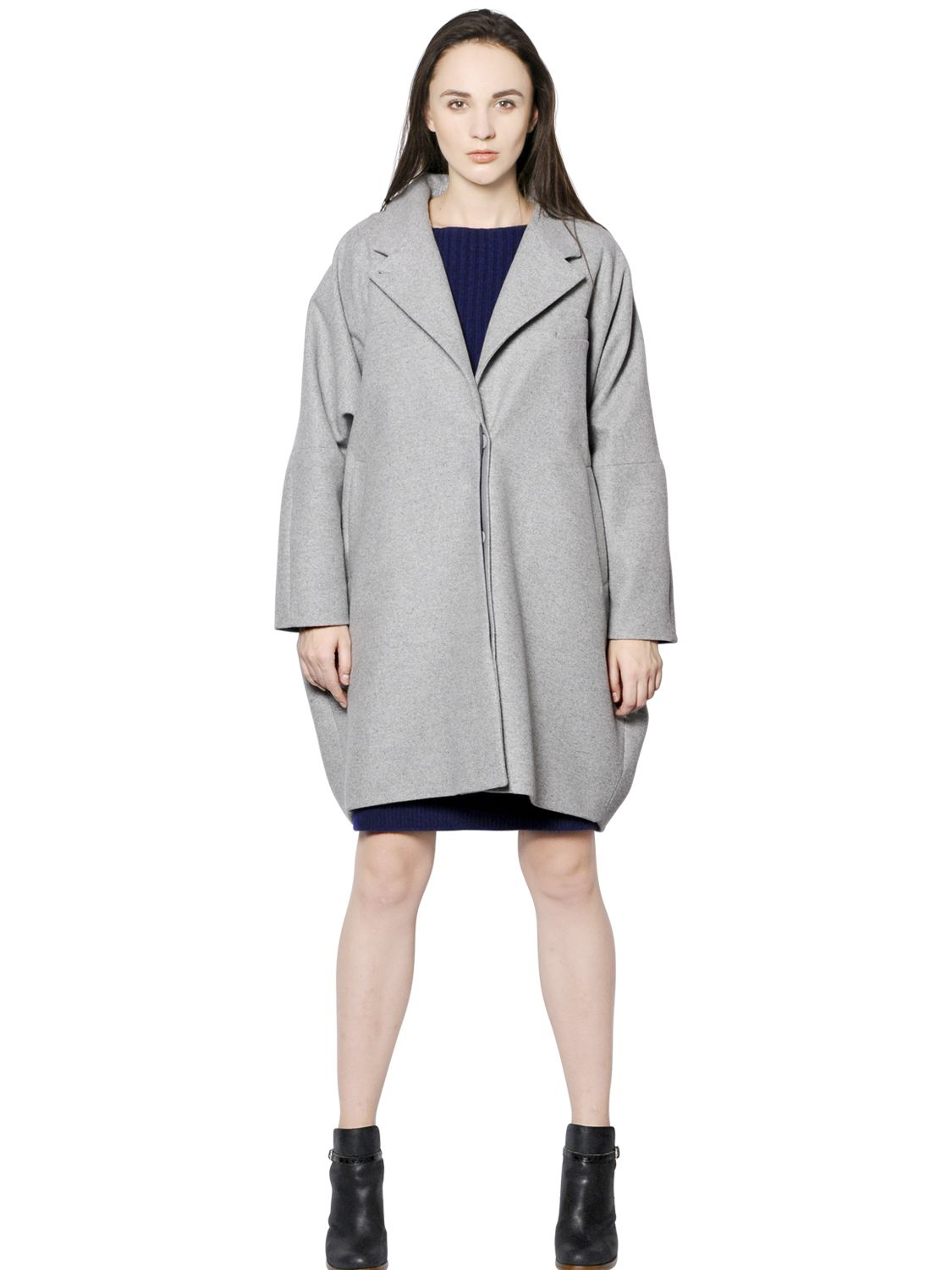 Lyst mm6 by maison martin margiela oversize wool coat in for Mm6 maison margiela