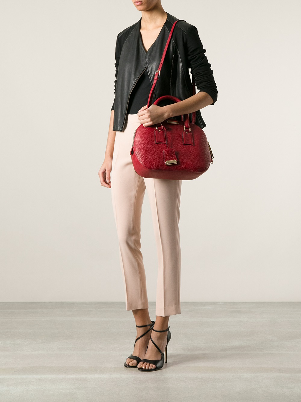 b489ba325570 Lyst - Burberry Medium Orchard Bowling Bag in Red