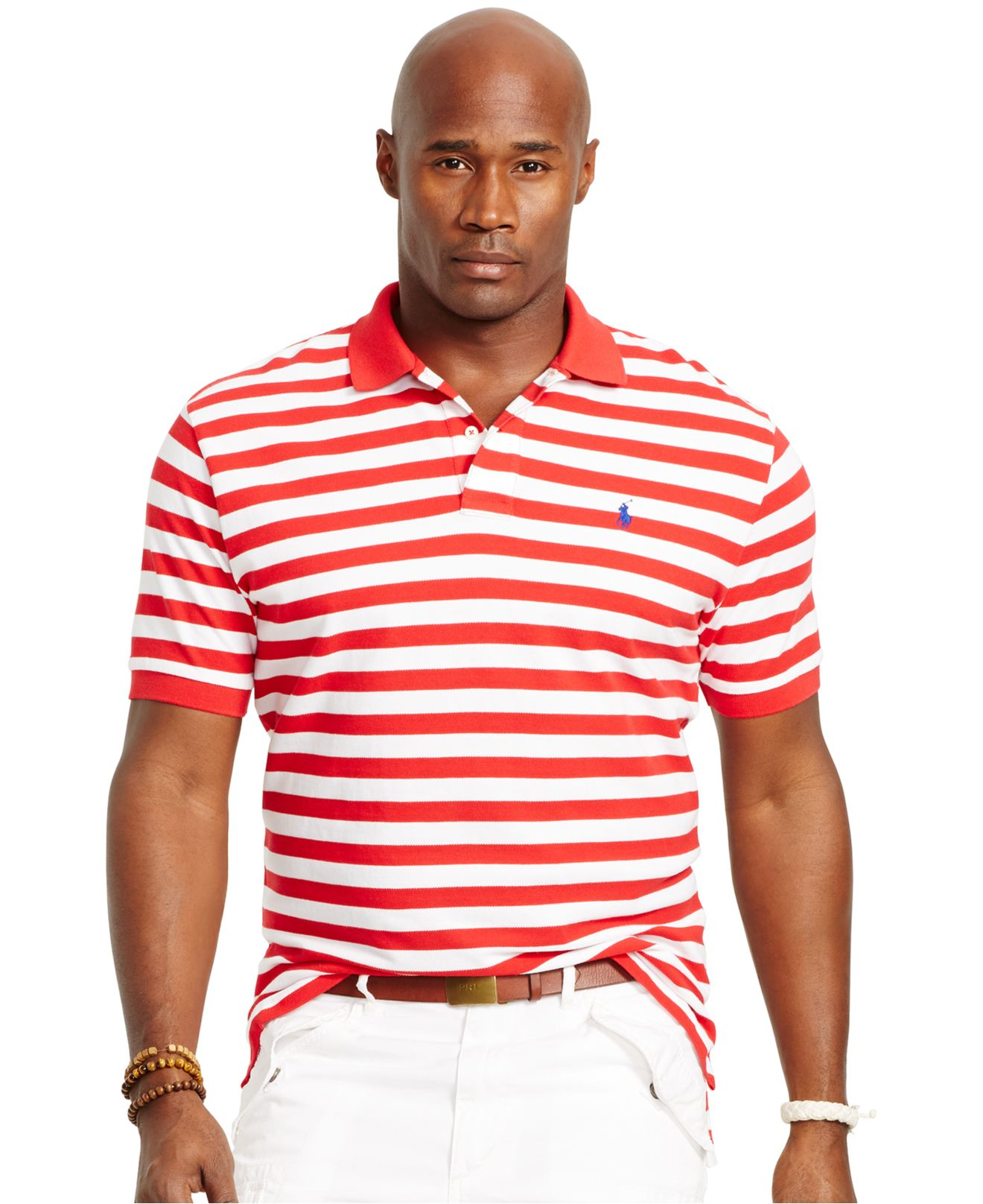 Lyst polo ralph lauren big and tall classic fit striped Man in polo shirt