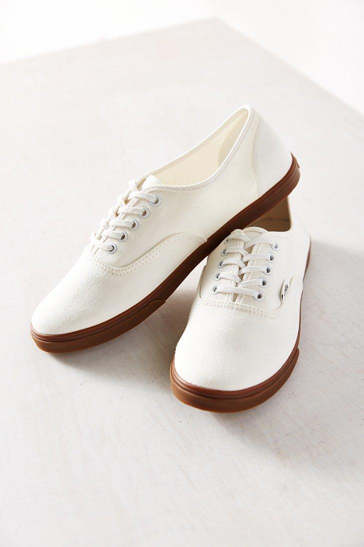 31e62fd226d397 Lyst - Vans Gumsole Authentic Lo Pro Sneaker in White