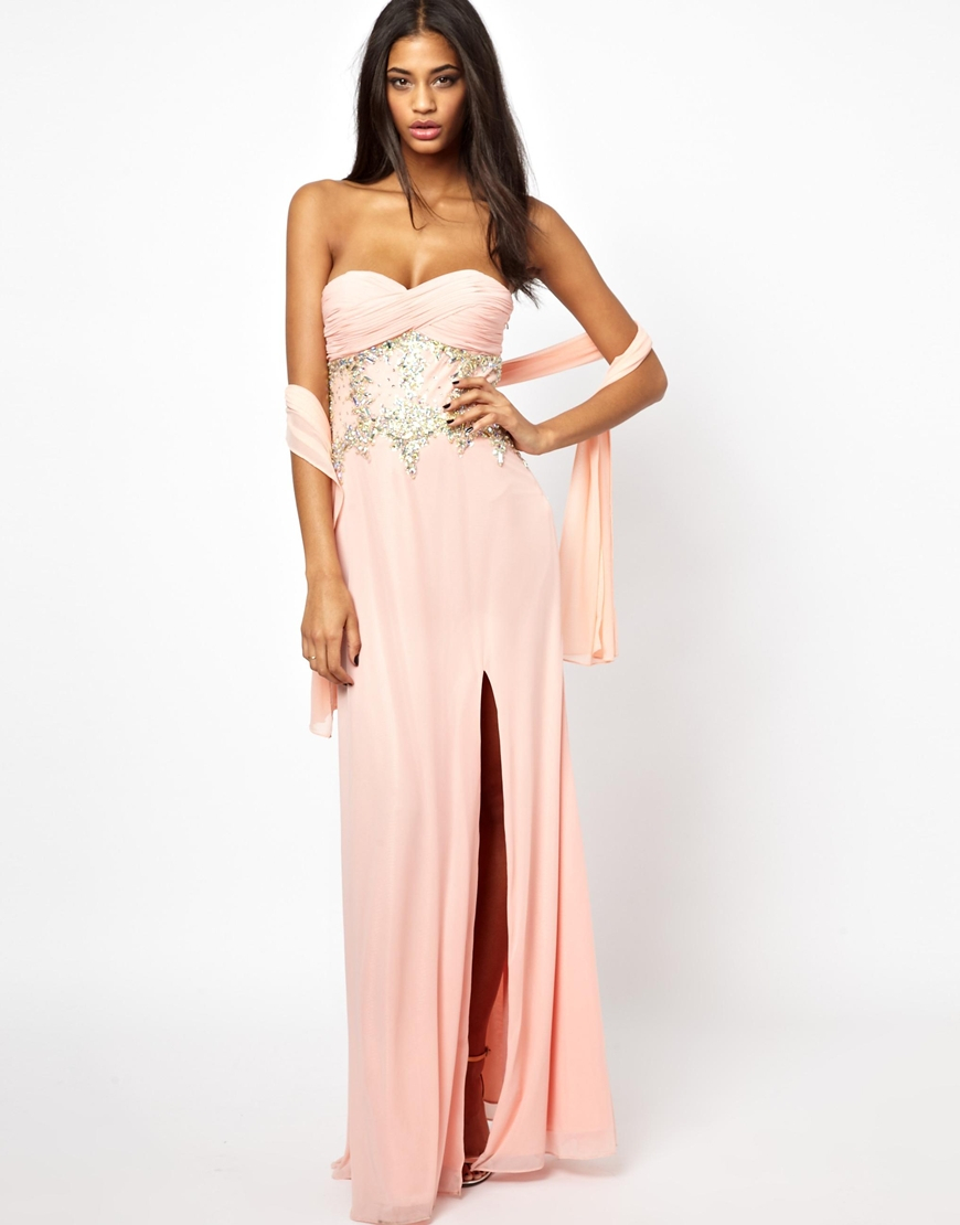 Forever unique Candice Maxi Dress in Pink | Lyst